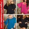 Tricolor más la ropa interior atractiva de la ropa de noche del acoplamiento de Stiching de las mujeres de la talla