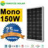 Monocrystalline размер панели 150W 160W 170W солнечный PV