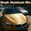 Vinilo de aluminio cepillado oro al por mayor de Vinyl/Brushed
