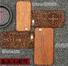 Caja de madera de encargo de gama alta de madera verdadera del teléfono para la caja del móvil del iPhone 6/6s
