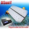 Luce programmabile dell'acquario del LED per il corallo della scogliera, nessun rumore del ventilatore, alba/tramonto/lunare, 28/56/112*3W