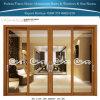 Laag van de Korrel van de Fabrikant van Foshan maakte de Houten Decoratieve Dubbele het Glijden van het Glas de Aluminium Gebruikte Verkoop van de Deuren van het Glas aan