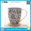 Nuovo azzurro e White Elegant e Graceful Mug From Cina