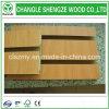 El panel de madera del MDF Slatwall de la melamina del grano