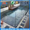 Sin marco templado piscina Valla de cristal de seguridad con acero inoxidable 2205 Espitas