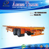2개의 차축 20ft Flatbed Semi Trailer, Container Trailer Truck