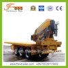 3axle Flatbed Semitrailer con Crane