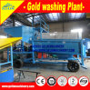 Equipamento de mineração móvel pequeno aluvial do ouro, planta móvel da recuperação do ouro com o motor Diesel para a fábrica de tratamento mineral