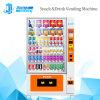Bevanda della bevanda del basamento verticale della visualizzazione dell'affissione a cristalli liquidi & distributore automatico freddi dello spuntino