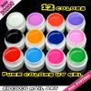 Gel ULTRAVIOLETA de la pintura del color puro de Gdcoco 12 de la ayuda del ODM del OEM de la fábrica de la venta al por mayor del gel del arte del clavo de #20200W