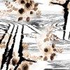 Impression 1208 de Digitals de tissu en soie de mode