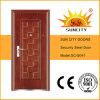 Grilles de porte utilisées par modèle en acier de fer travaillé de porte de modèles (SC-S041)