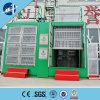 Grua dobro da construção do elevador do passageiro da gaiola de Sc200/200 2ton