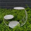 庭の装飾のための美しいMatel 3層プランター立場