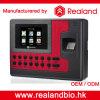 Realandの従業員の指紋センサーの時間出席