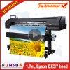 Impresora solvente de Funsunjet Fs-1700k el 1.7m Eco con una pista Dx5 para la impresión de la etiqueta engomada del vinilo