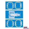 モーター端カバー、モーター絶縁体のプラスチック部品のためのDCモーター部品