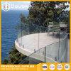 Rete fissa di inferriata di vetro curva Frameless della balaustra della scanalatura a u della Cina per la piscina, il balcone o la spiaggia