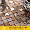 Steinmosaik-Mischungs-goldenes Glasmosaik mit Metallbehandlung