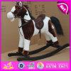 Cavalo de balanço 2015 de madeira novo, brinquedo de madeira do cavalo de balanço, cavalo de balanço de madeira barato W16D064