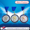 Ribbon를 가진 아연 Alloy 3D Shark Metal Medallions Swimming Medals