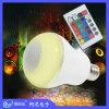 Ampoule à télécommande d'éclairage LED du haut-parleur RGBW de Bluetooth