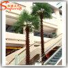 Palmeira falsificada artificial do ventilador do metal da decoração interna