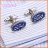 Do botão de punho famoso do logotipo do carro de VAGULA homens da ligação de punho do logotipo punho dos auto