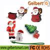 De populaire Schijf van pvc USB van de Douane van de Gift van Kerstmis