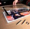 Boîte légère adaptée aux besoins du client d'affichage à LED d'armature de verre cristal
