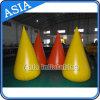 Boa sicura gialla all'ingrosso per i giochi dell'acqua, salvagente circolare tronco, asta gonfiabile per avvertimento/controllo di folla