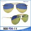 Óculos de sol cheios clássicos do desportista do frame do metal do piloto da lente do espelho