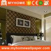 Красивейшая бумага стены бархата Flocked обои для домашнего украшения
