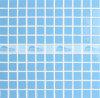 Azulejo de mosaico de cerámica Acoplamiento-Montado esmaltado azul cuadrado (BCI604)