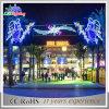 Lumières extérieures de motif de rue de la décoration DEL de réverbère de Noël