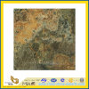 Polished naturel Imperial Gold Granite Tile pour Wall/Flooring (YQC)