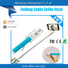 Nuovo Version Folding Cable Selfie Stick con Factory Price (POD-C004)
