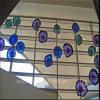 De blauwe Schotel van het Glas van de Kunst van de Muur