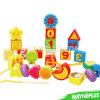 Игрушка домина воспитательного плодоовощ детей деревянная