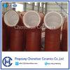 Baldosa cerámica de alúmina de tuberías para el revestimiento de tubería de acero