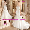 Круглое Neckline Beading Mermaid Bridal Dress Wedding с Buttons