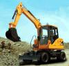 excavador hidráulico de la rueda 8ton, excavadores que recorren