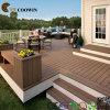 寄木細工の床の屋外のフロアーリング、木製の合成のDecking、WPCのDeckingの価格(TW-02B)