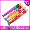 2014 Wooden colorido Flute Toy para Kids, Educational Wooden Flute Toy para Children, Cartoon Wooden Flute Toy para Baby W07D011