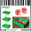 Carte plástico do escaninho Stackable do Tote para a fruta e verdura