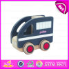 Kids、Emulational Police Kids Driving Toy Cars、Interesting Baby Wooden Toy Police Car W04A103のための2015小型Wooden Toy Police Car