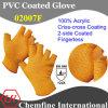 10g Оранжевый 100% акрил трикотажные пальцев перчатки с 2-х сторон оранжевой ПВХ крест-накрест покрытие / EN388: 124x
