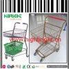 Metallrahmen-Doppelt-Korb-Einkaufen-Laufkatze für Gemischtwarenladen