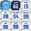 Titani Jersey normale ed abitudine qualsiasi nome qualsiasi formato bianco blu-chiaro personalizzato numero S-4XL dell'azzurro di blu marino della camicia