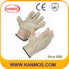 Guanti del lavoro del cuoio dei driver di mano di sicurezza sul lavoro del granulo del maiale (22203)